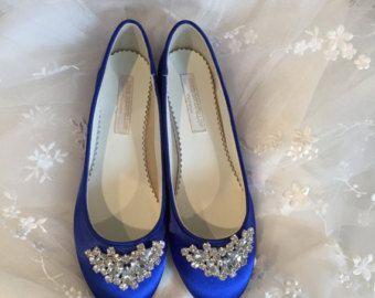 Wedding Ballet Slipper Shoes Wedding Shoes Blue By Parisxox