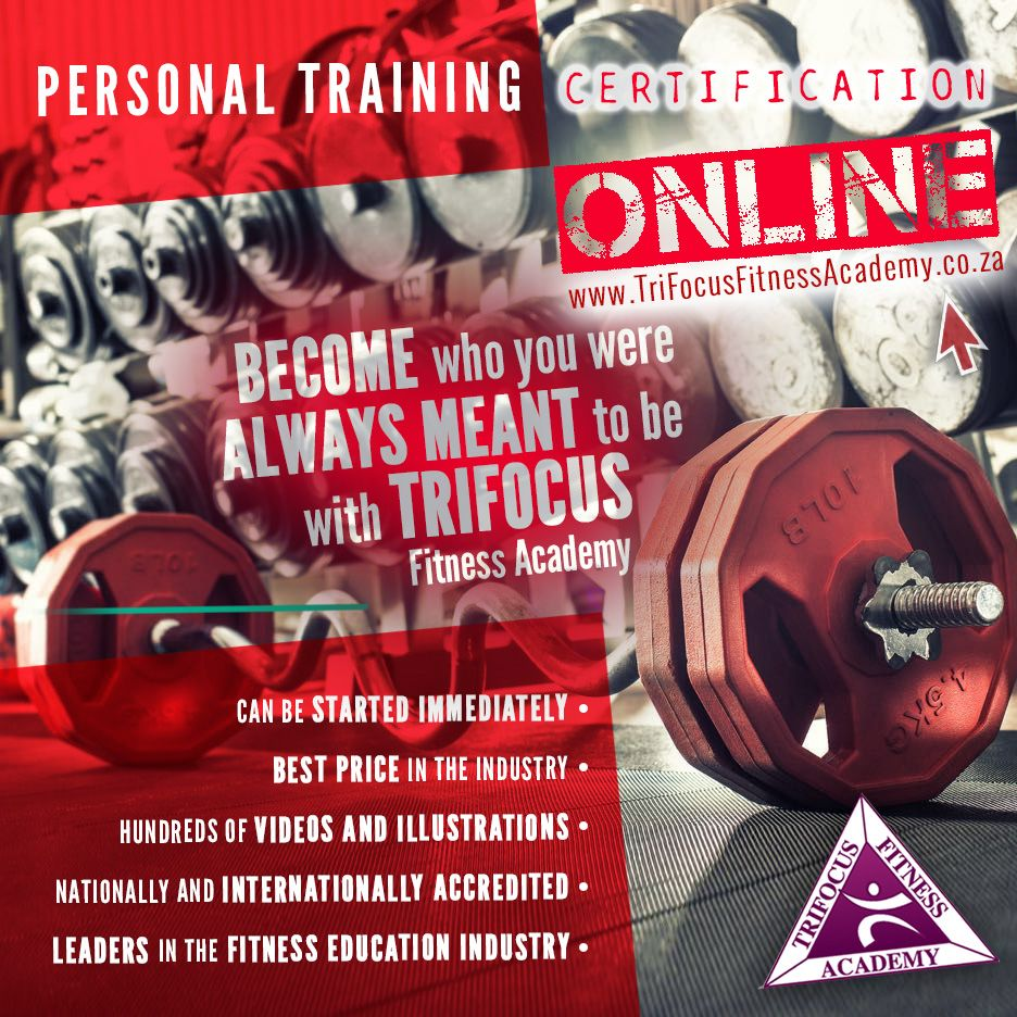 Trifocus fitness academys personal training certification looking to become a personal trainer at trifocus fitness academy south africa we offer the opportunity to get your personal training certification online xflitez Images