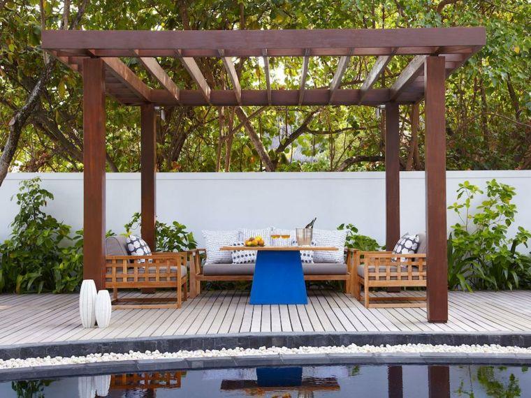 comment construire une pergola en bois pour d corer sa terrasse travaux pinterest. Black Bedroom Furniture Sets. Home Design Ideas