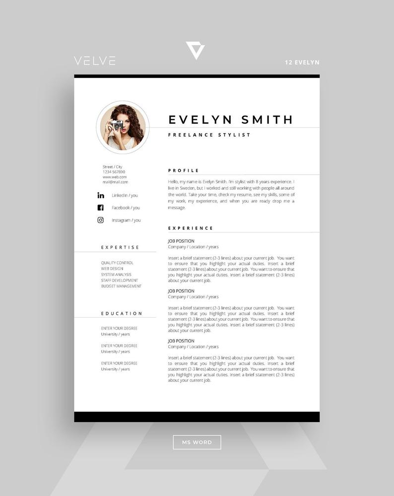 Professional Resume Template Cv Template Cover Letter Etsy Cv Template Cv Resume Template Resume Template Professional