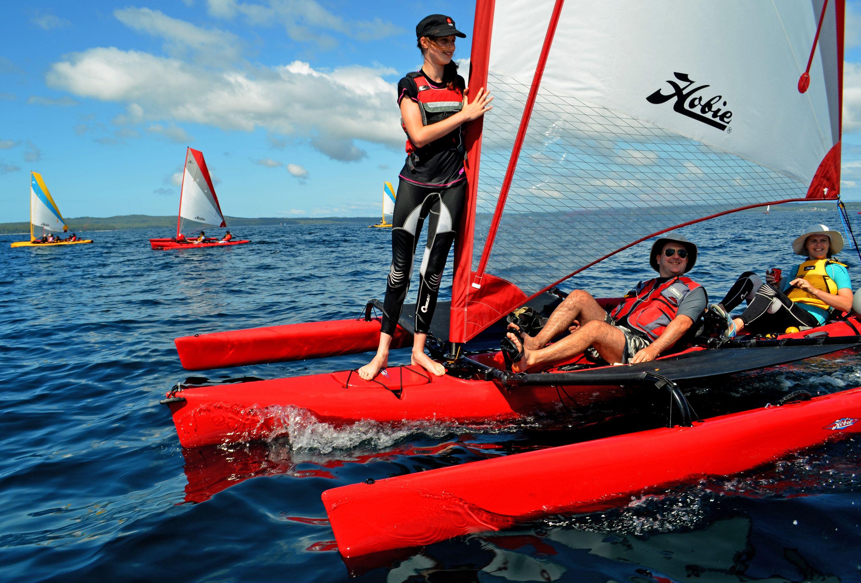 Hobie Tandem Islands underway Hobie mirage, Kayaking