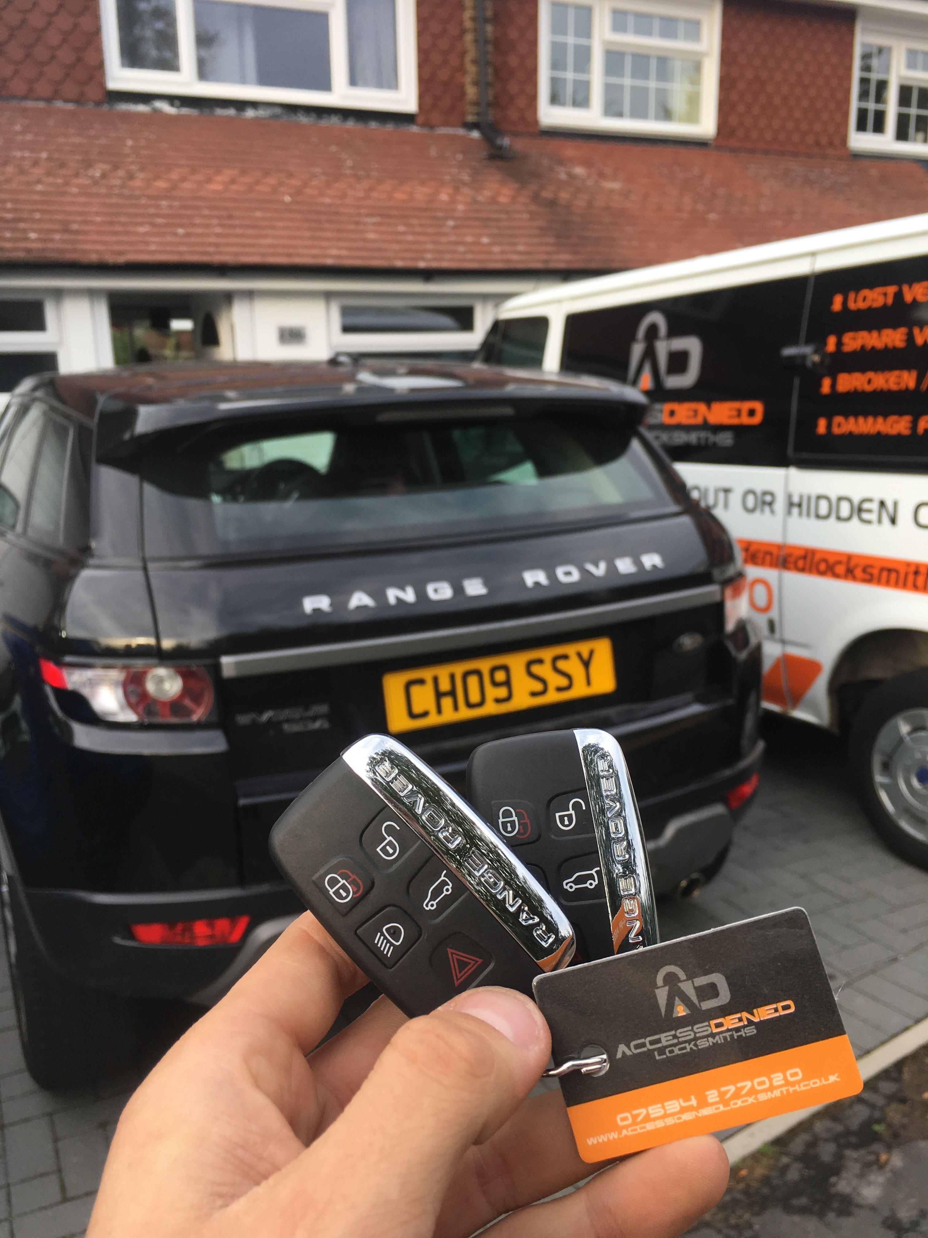 Range Rover Evoque 2012 Replacement Keys In Hoddesdon The