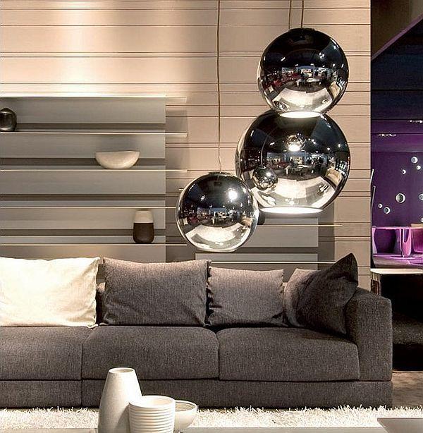 Modern Fabelhafte Pendel Beleuchtung Ideen Couch Grau