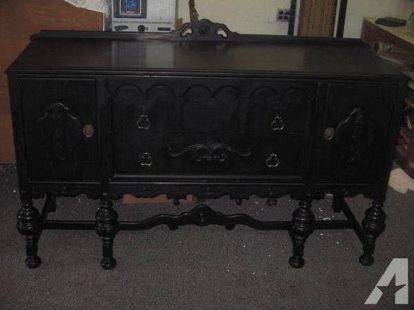 check out 2dd6e 57bd9 Beautiful Black Ornate 1920's sideboard/buffet - $695 ...