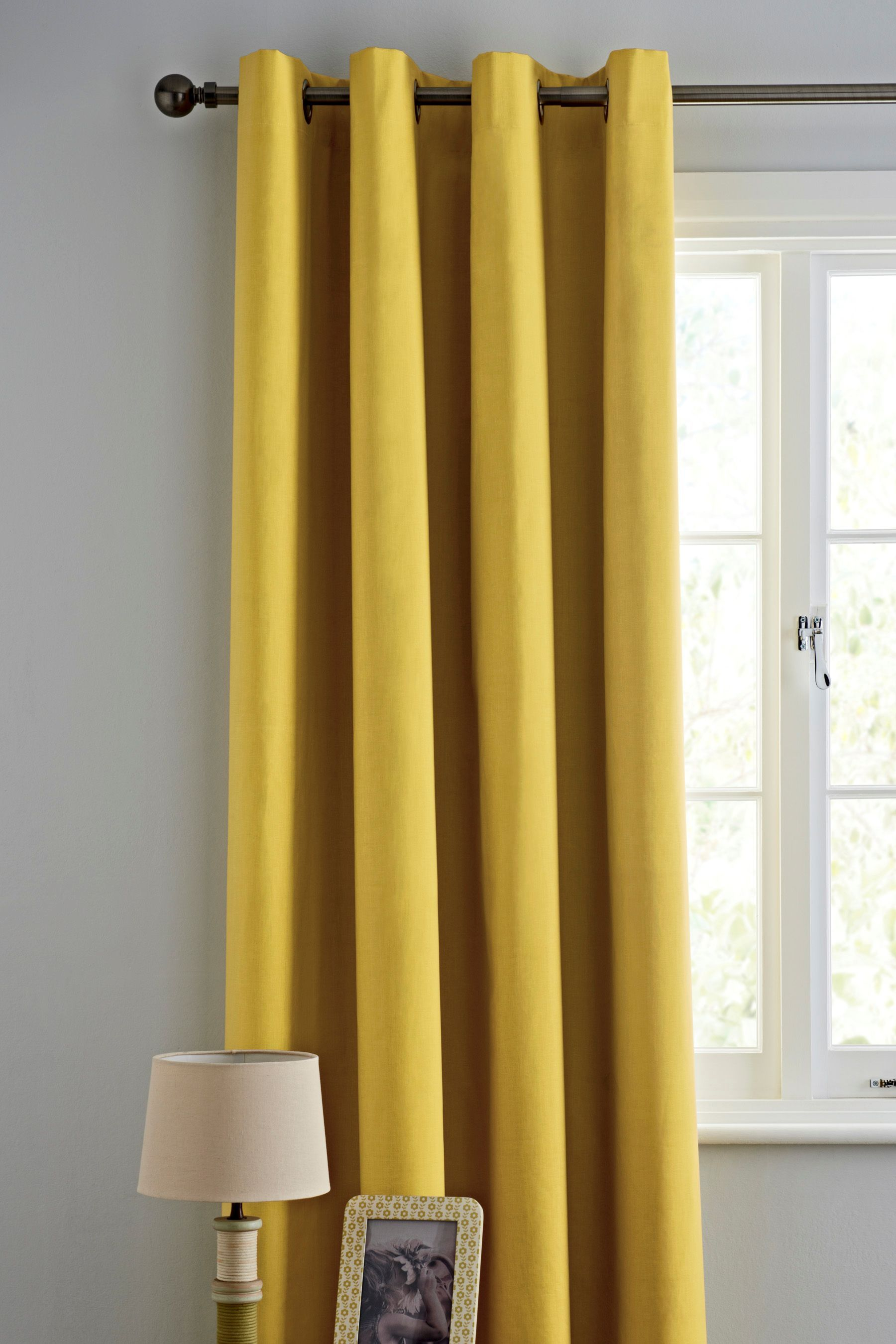 Next Bedroom Curtains Buy Ochre Plain Blackout Eyelet Curtains From The Next Uk Online