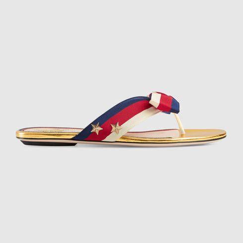298d1c8d2d5 GUCCI Aline Grosgrain Web Thong.  gucci  shoes  women s sandals ...