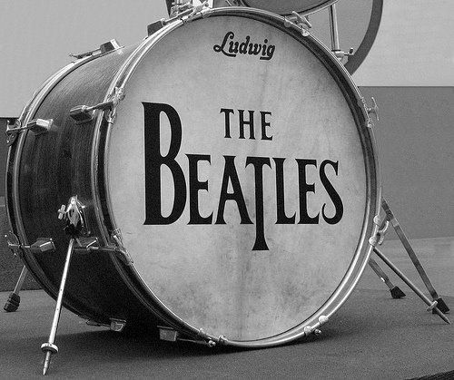 Ludwig Bass Drum With Beatles Drop T Logo Head