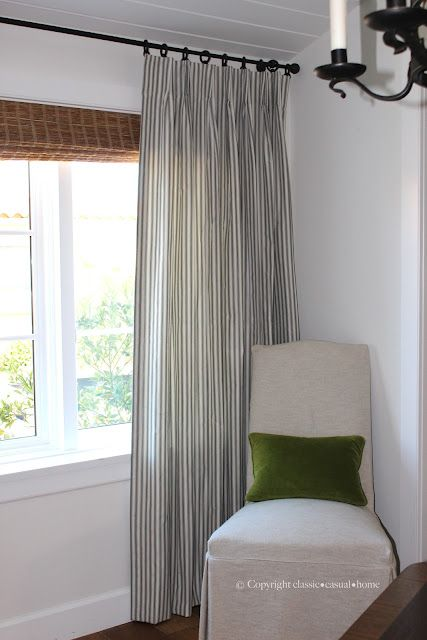 Ticking Stripe Curtains Classic O Casual Home