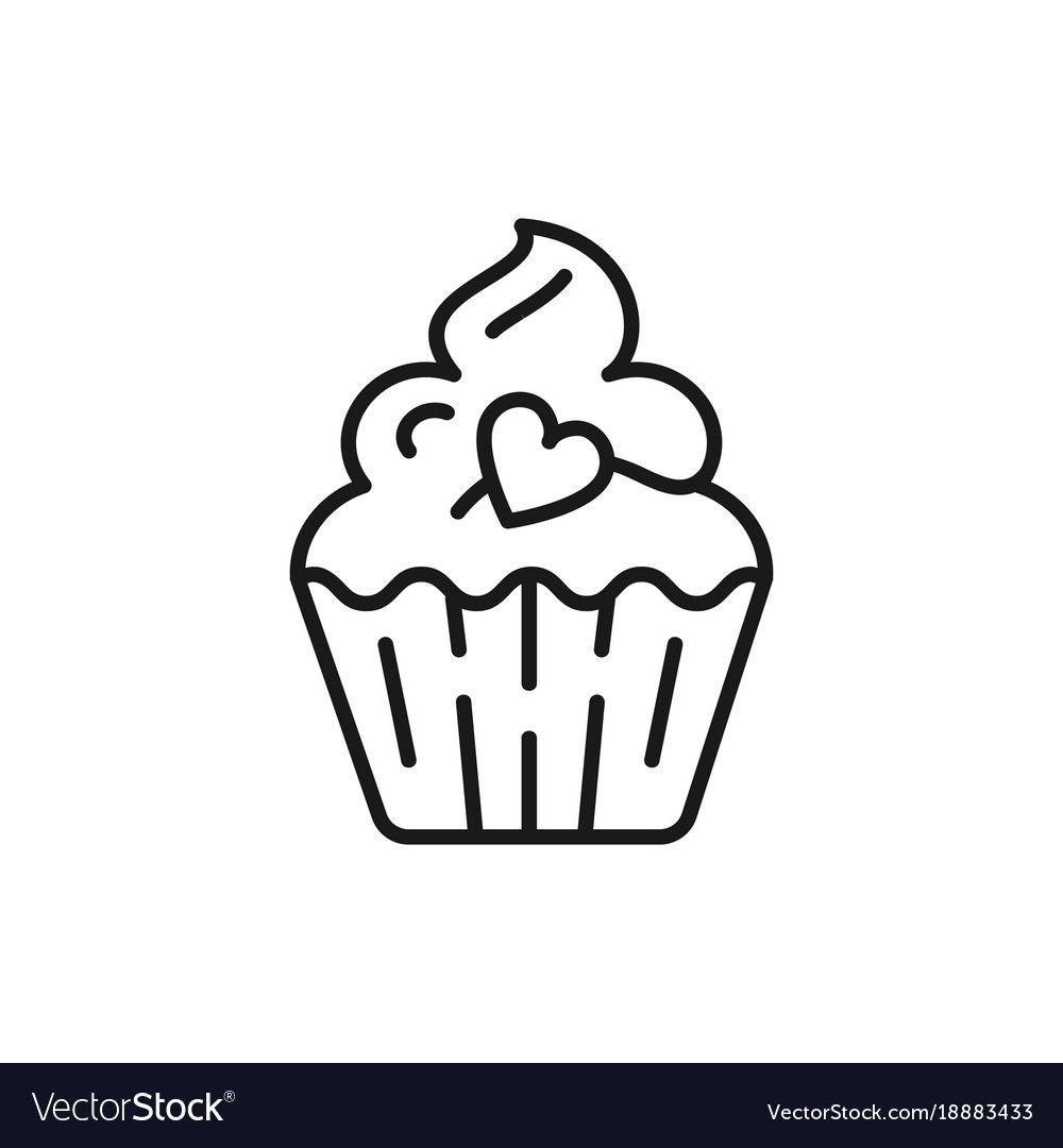 Cupcake Icon Birthday Icon Symbol Of Holiday And Vector Image Aff Birthday Icon Cupcake Symbol Cupcake Icon Watercolor Logo Branding Birthday Icon