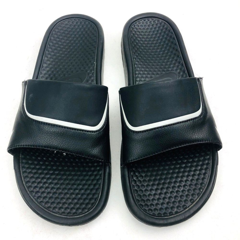 be43e05b218 Nike Men s Swoosh Sandal Black White 309996-011 Open Toe Size 12  Nike   SLIDES