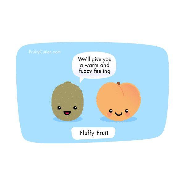 Kiwi and peach joke cute comedy with kawaii fruit - Fruity cuties jokes ...