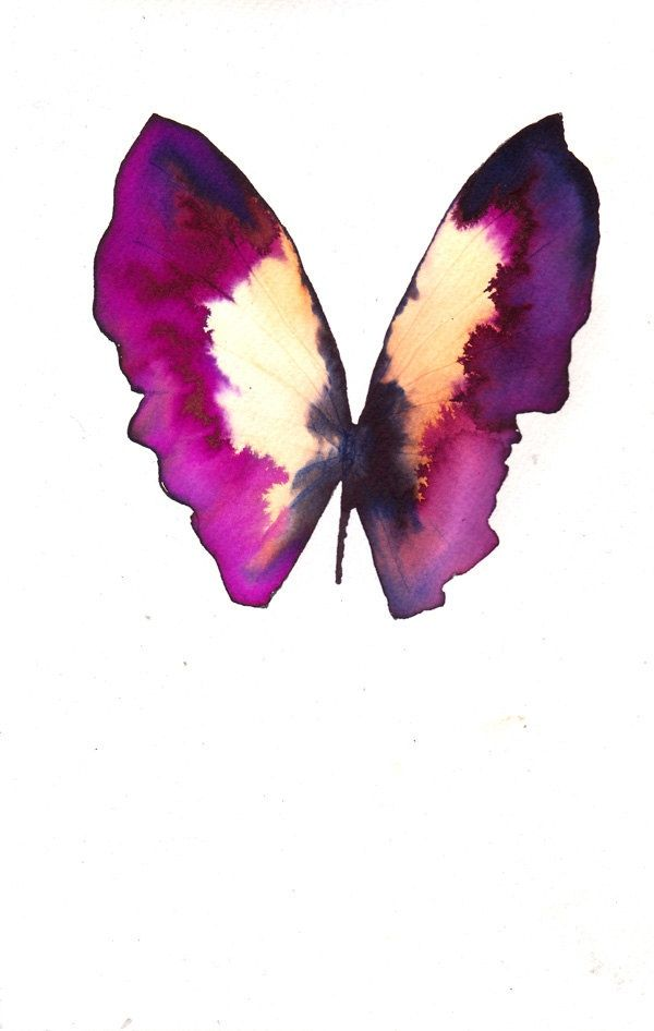 Watercolor Purple Butterfly Butterfly Watercolor Butterfly