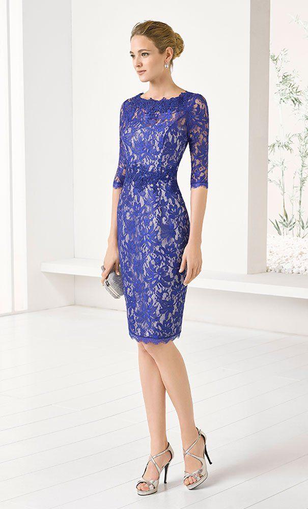 Vestido MARFIL Encaje Azul Plata | Gowns | Pinterest | Encaje azul ...