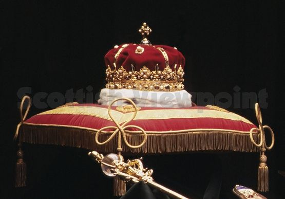The 'honours of Scotland' (Scottish crown jewels), Edinburgh Castle - the Duke of Hamilton is caretaker of these.