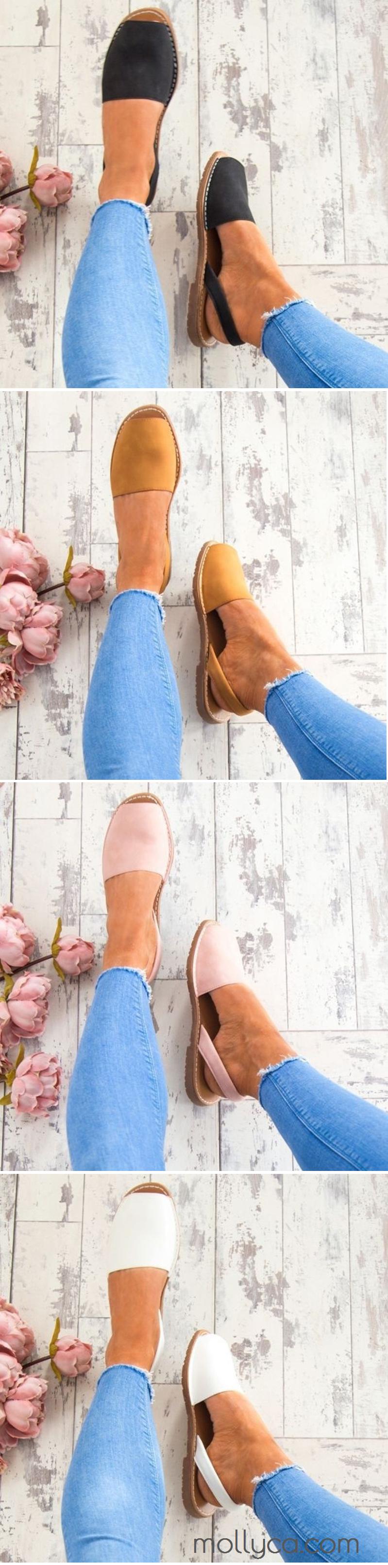 $23.95 USD Sale! SHOP NOW! Big Size Flat Sandal Shoes