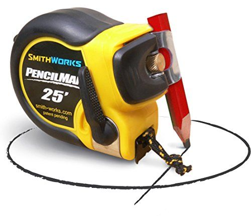 Pencilman Tape Measure Smith Works Versatile Pencil Clamp Holds Any Marker Ultra Strong Reinforced Tape Brake Quick Releas Strong Tape Tape Measure Cool Tools