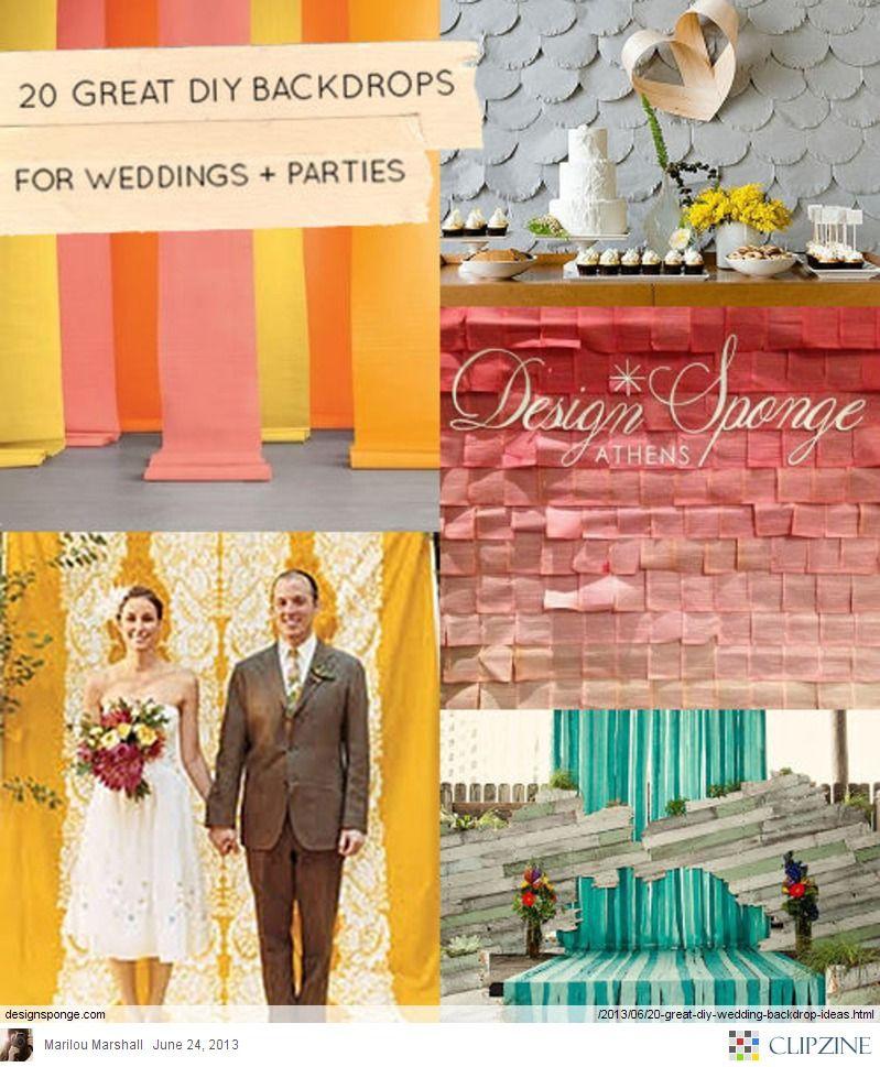 20 Great Diy Wedding Backdrop Ideas Design Sponge Party Ideas