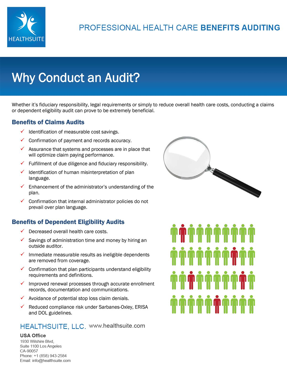 Healthcare Claim Audit by Healthsuite. See the many
