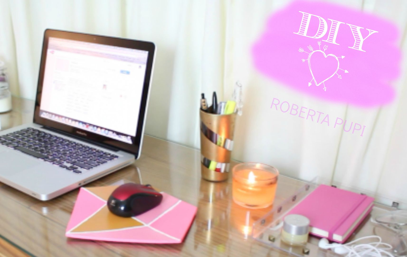 Diy Decore Organize Sua Escrivaninha Diy Ideias Criativas Decoracao