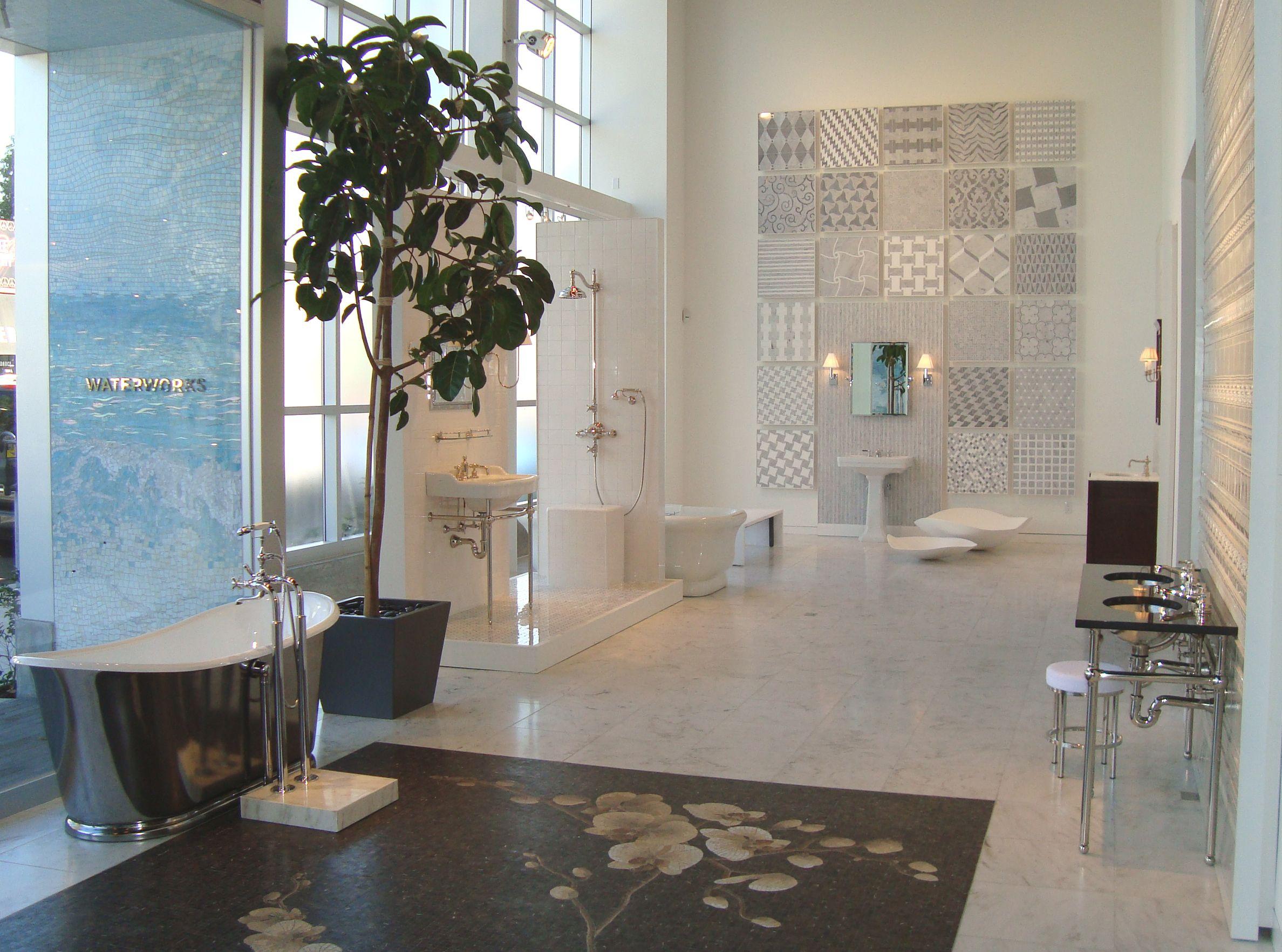 Waterworks los angeles showroom display initial m for Bathroom showrooms los angeles