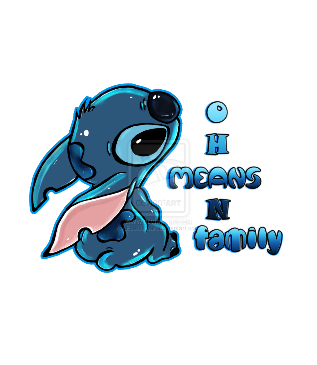 Tumblr iphone wallpaper stitch - Stitch Ohana By Ecastewart Deviantart Com On Deviantart