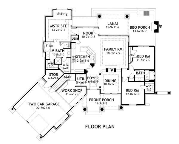 Ranch House Plan with 3 Bedrooms and 2 5 Baths Plan 1897