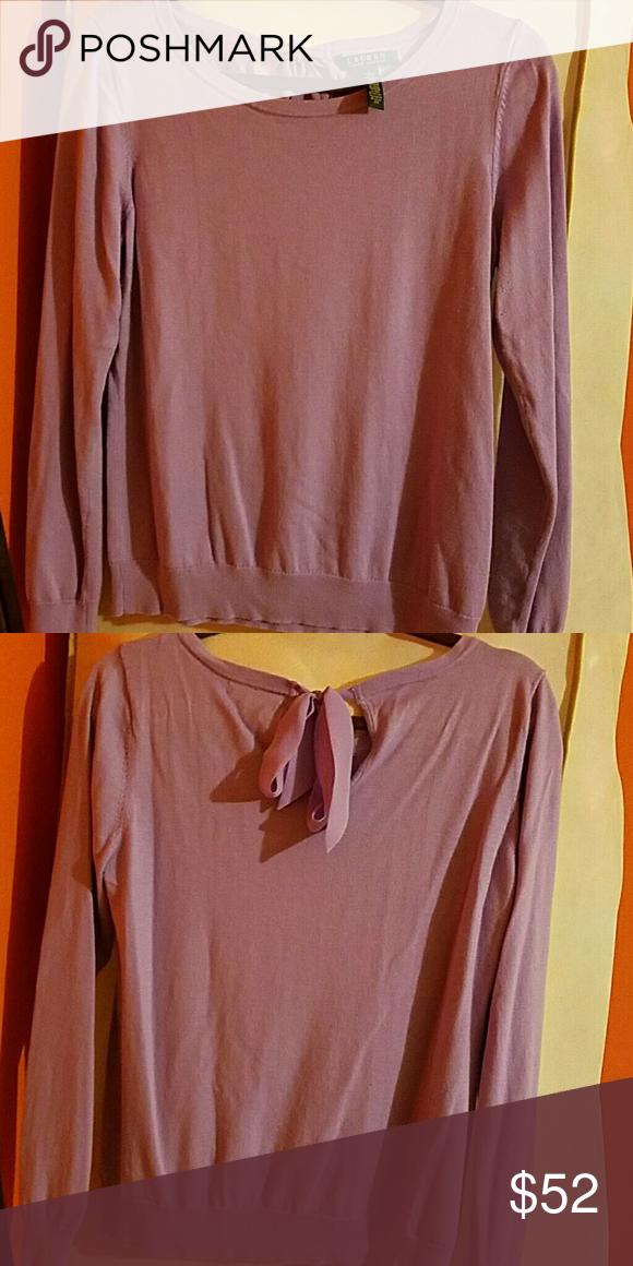 Ralph lauren sweater Worn once.. lilac ralph lauren sweater Lauren Ralph Lauren Sweaters Crew & Scoop Necks