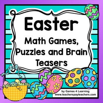 Easter Activities: Easter Math Games, Easter Math Worksheets, Easter ...