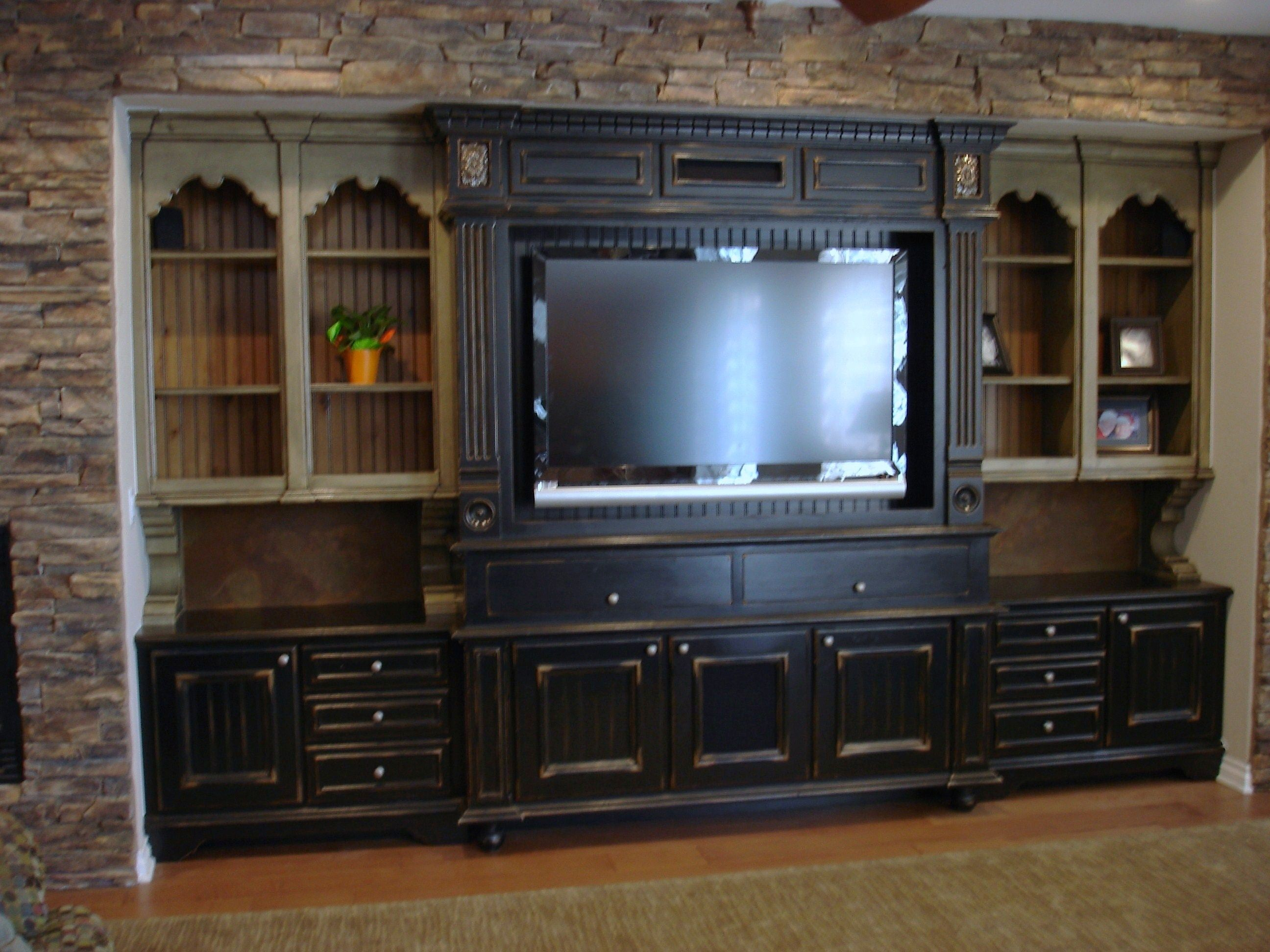 Custom built entertainment center. www.mattgausdesigns.com | home ...