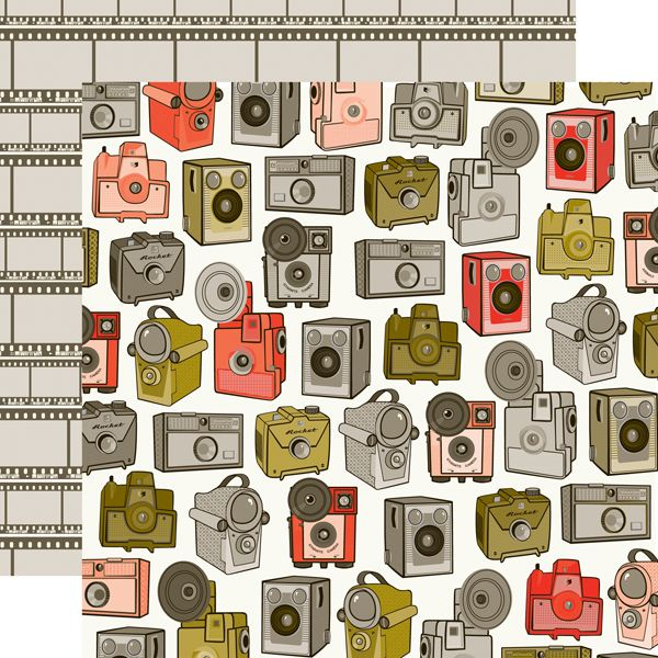 Echo Park - Oh, Snap Collection - 12 x 12 Double Sided Paper - Cameras at Scrapbook.com $0.89