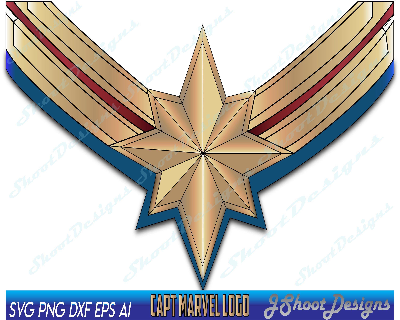 Captain Marvel Captain Marvel Svg Capt Marvel Captain Marvel Logo Capt Marvel Logo Digital Download Superher Superhero Clipart Captain Marvel Marvel Logo