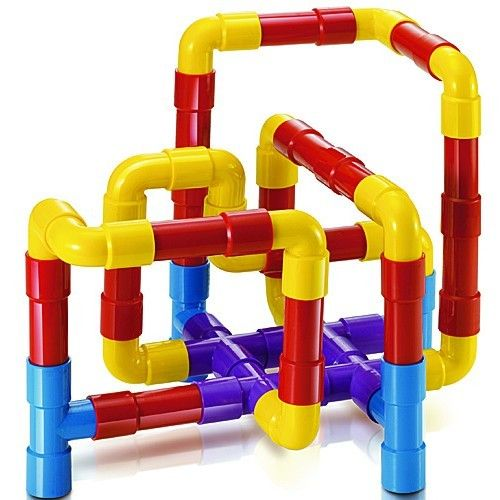 Let Quercetti Tubation take your preschool child on an exciting journey through winding mazes, curving pipelines and interlocking tubes all set up by himself.