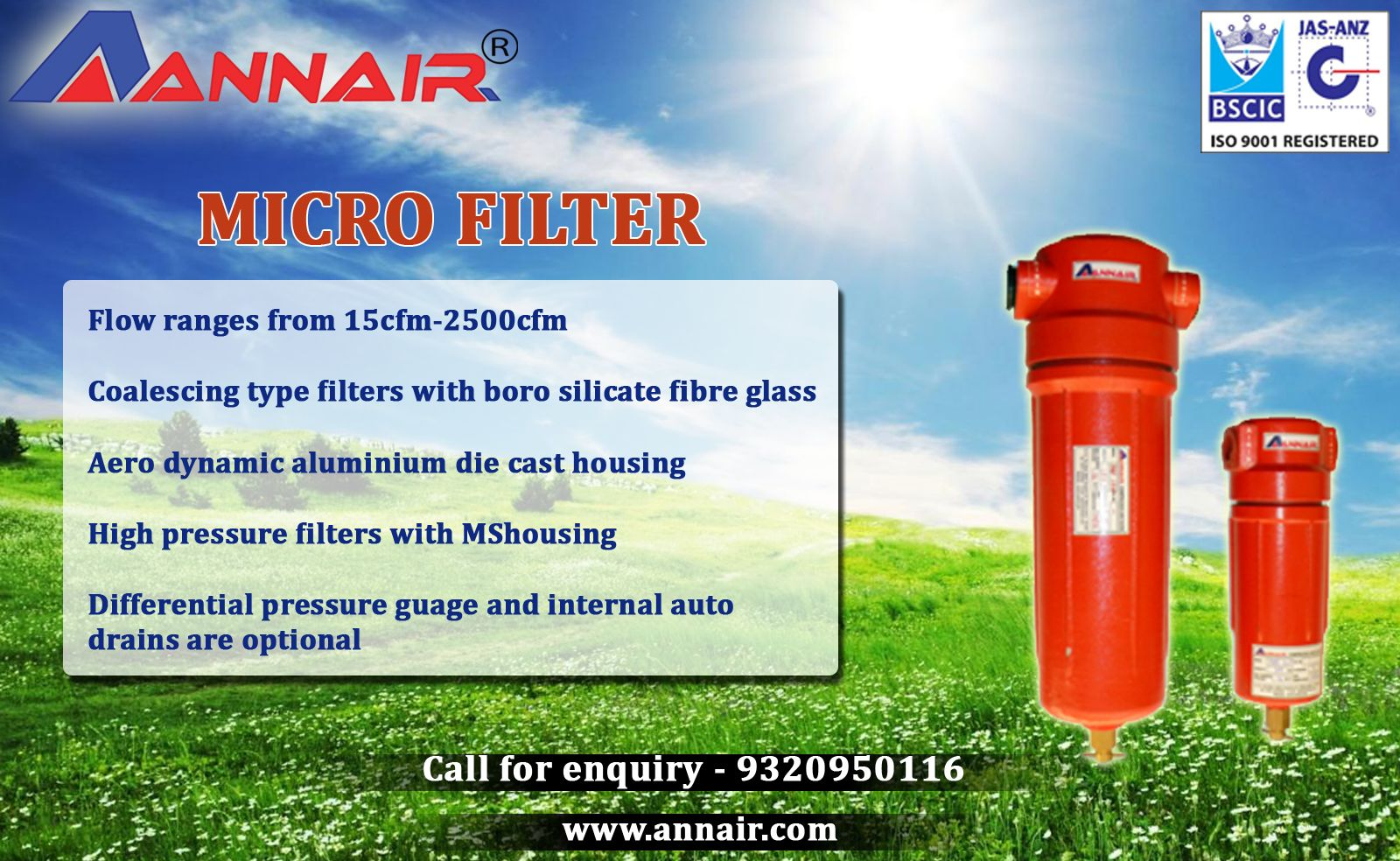 Micro filters designed by Annair Drychill Tech with a