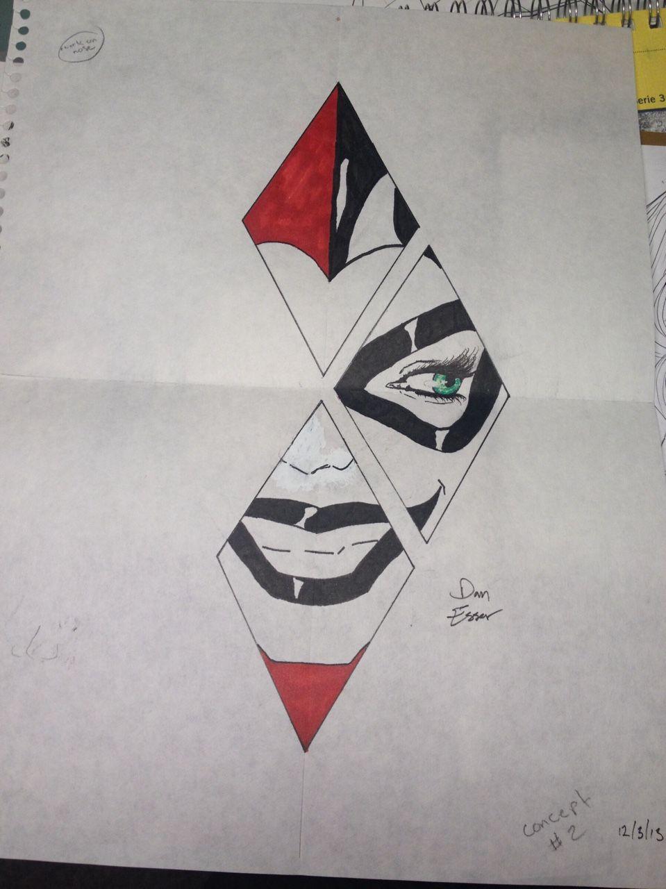 Harley Quinn Tattoo Concept