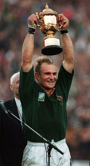 Francois Pienaar Lead South Africa To Victory In The 1995 Rugby World Cup Springboks Rugby South Africa South Africa Rugby