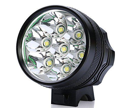 Gugou 10000lumen 7xcree Xml Xml T6 Mtb Led Bicycle Light Headlight12000 Mah Battery Click Image To Review More Detail Bike Lights Led Bike Led Bicycle Lights