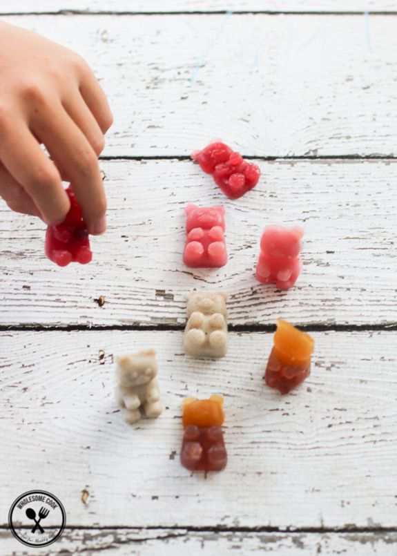 Homemade Healthy Gummy Bears No Added Sugar-