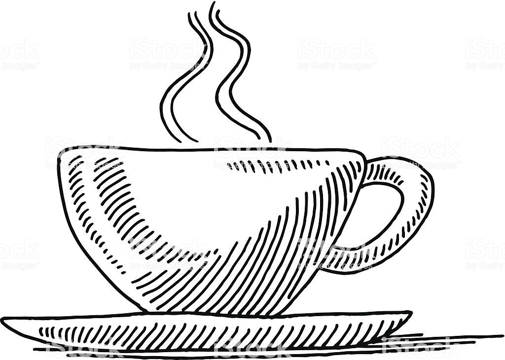 hand drawn vector drawing of a cup of tea side view black and white side view drawing tea cup drawing free vector art side view drawing tea cup drawing