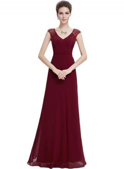 Oasap.com - oasap Floral Lace Paneled V Neck High Waist Dress - AdoreWe.com