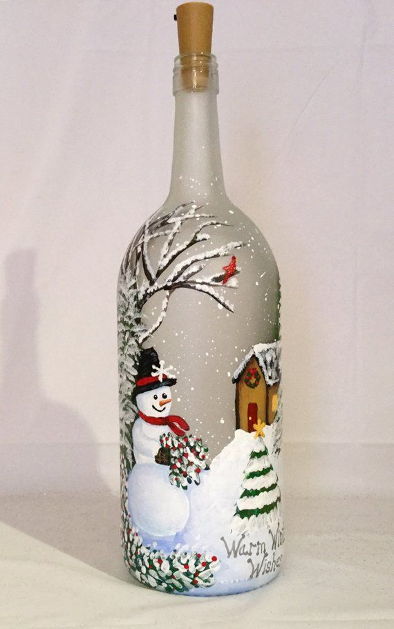 Snowman Wine Bottle