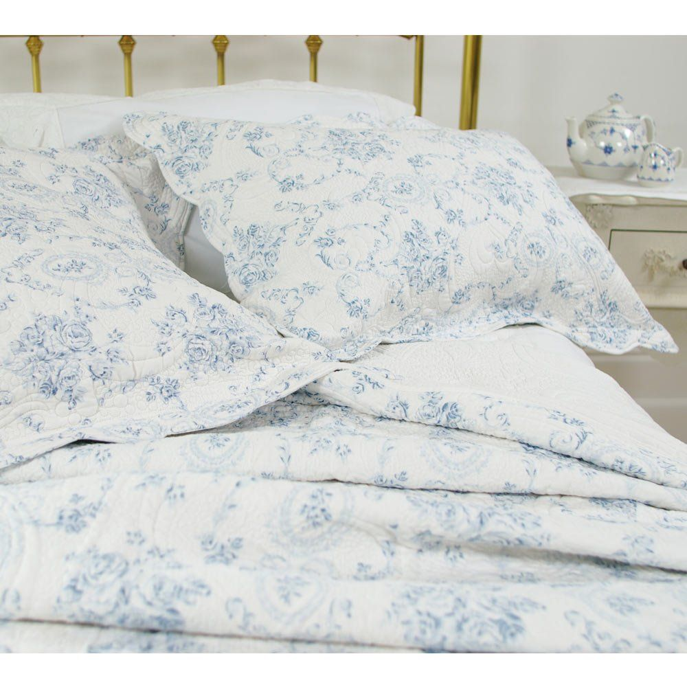 Oversized King Quilt Brighton Toile Green Garden Luxury Bedding French Country Bedding French Country Bedrooms Country Bedroom
