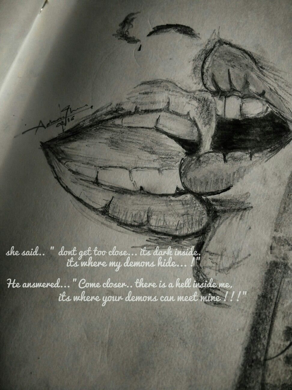 Pencil Sketch Quote
