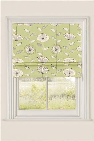Buy Green Retro Flower Print Roman Blinds Online Today At Next