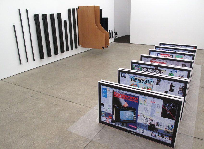 Installation view Friedrich Petzel Gallery Simon Denny
