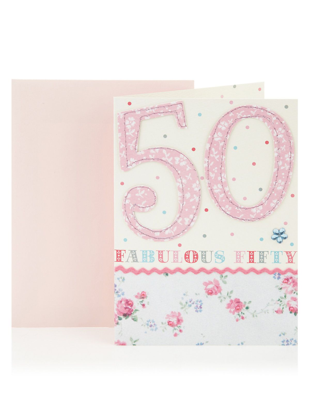 Fabulous Fifty Birthday Greetings Card Ms Illustration