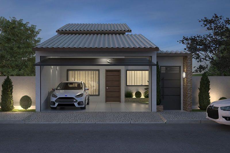 Planta de casa para terreno de 7x20 metros fachadas for Casa moderna 7x20