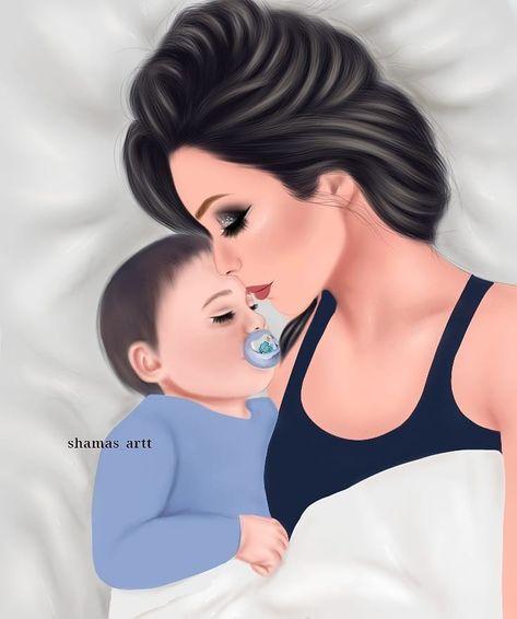 La Imagen Puede Contener Una O Varias Personas Mother Daughter Art Mother Art Mom Art
