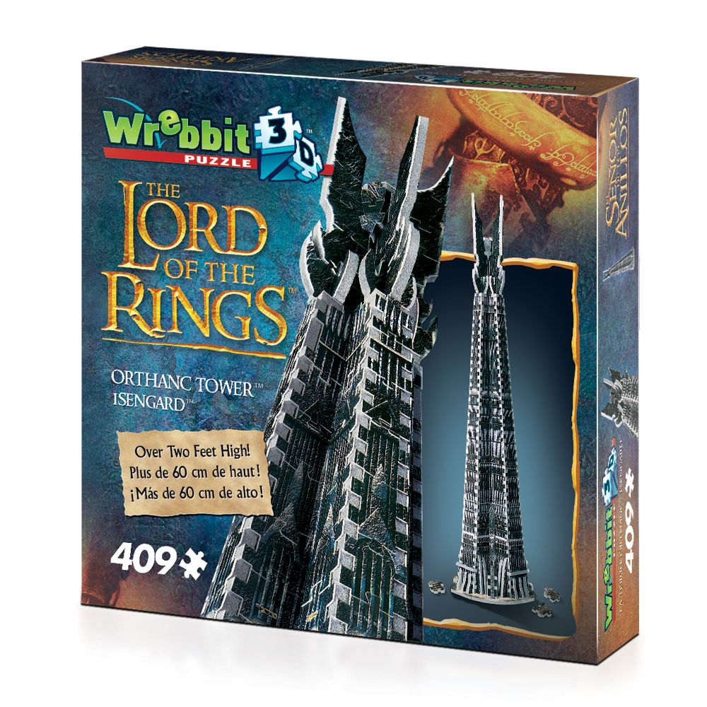 Orthanc Tower Isengard 3D puzzle from Wrebbit 3D Gondor Middle