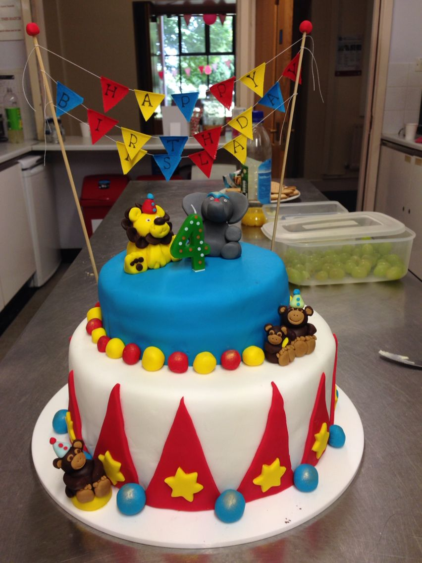 Circus Themed Cake For Girls 4th Birthday Party In Dorset Cakes