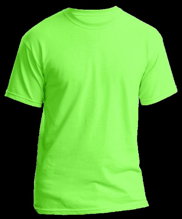 Unisex T Shirt Round Neck Shirt Plain Neon Green Extra Large High End Fashion Fashion Brand King Apparel